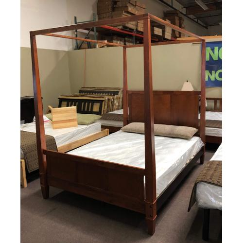 Queen Canopy Cherry Wood Bed