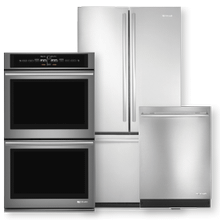 Stainless Steel French Door Refrigerator, Double Wall Oven & Dishwasher 3 Piece Package- Open Box