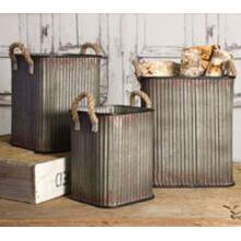 See Details - Set of 3 Corrugated Storage Bins