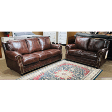 GENUINE ITALIAN LEATHER Solomon Sofa in Choco      (S-2520,29038)