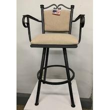 """Sanoma"" Swivel Bar Stool with Arms"