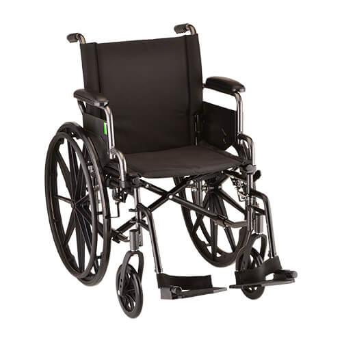 "16"" Lightweight Wheelchair Desk Arms & Footrests"