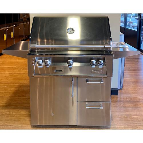 """Alfresco ALXE36SZCDNG    36"""" Sear Zone Grill with Deluxe Cart"""