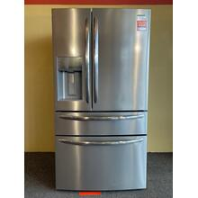 See Details - Frigidaire Stainless Steel 4 Door Refrigerator