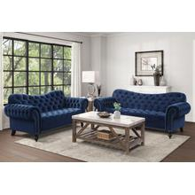 View Product - Blue Sofa and Loveseat