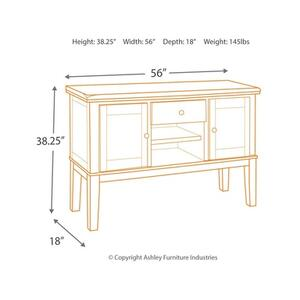 Haddigan 7PC Set: 5PC Dinette w/ Leaf, Bench, & Server