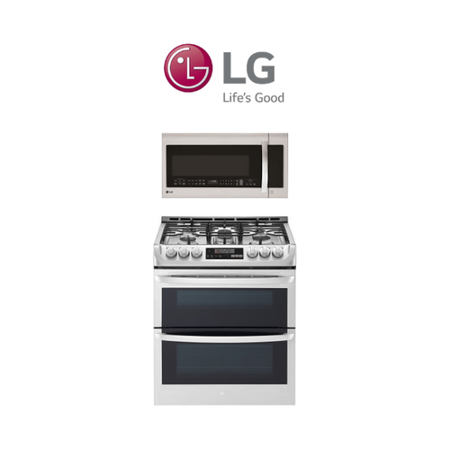 LG Gas Range & Over the Range Microwave 2 Piece Package