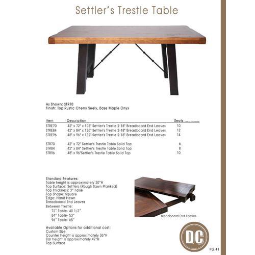 Settlers Trestle Table