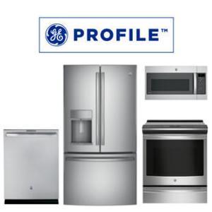 GE Profile 4 Piece Kitchen Package. Price valid thru 5/31/21.