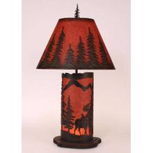 Small Moose Scene Panel With Night Light