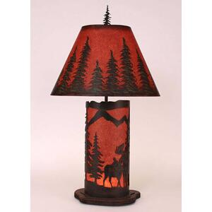 Small Moose Scene Panel With Night Light