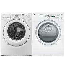 WHIRLPOOL 4.2 cu. ft. Front Load Washer & GE 7.0 Cu. Ft. capacity Dura Drum Electric Dryer- Open Box