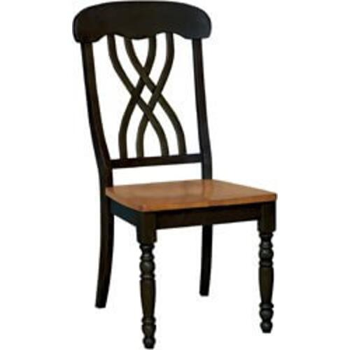 Gallery - Rectangular Extension Table Black & Cherry