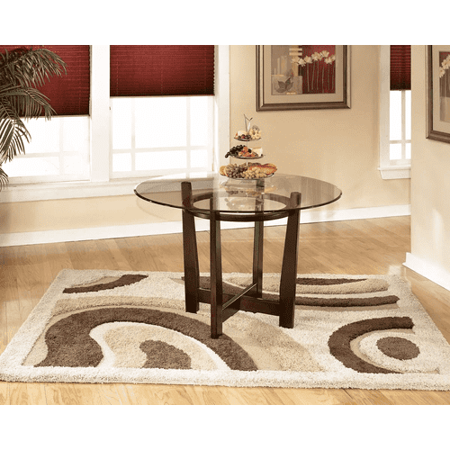 Charrell - Medium Brown - 5 Pc. - Round DRM Table & 4 Brown Side Chairs