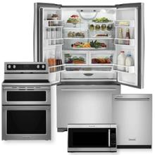 JENNAIR/KITCHENAID Counter Depth French Door Package w/ Electric Range-Minor Case Imperfections