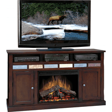 "Fire Creek 62"" Fireplace Console IN Danish Cherry finish     (FC5101-DNC,58226)"