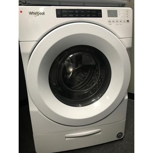 Whirlpool - Whirlpool 4.5-cu ft Closet-Depth High-Efficiency Front Load Washer & 7.4 cu. ft. Front Load Electric Dryer (sold as set)