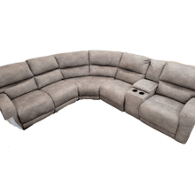 See Details - 6 Piece Fabric Sectional- Last Chance Latte
