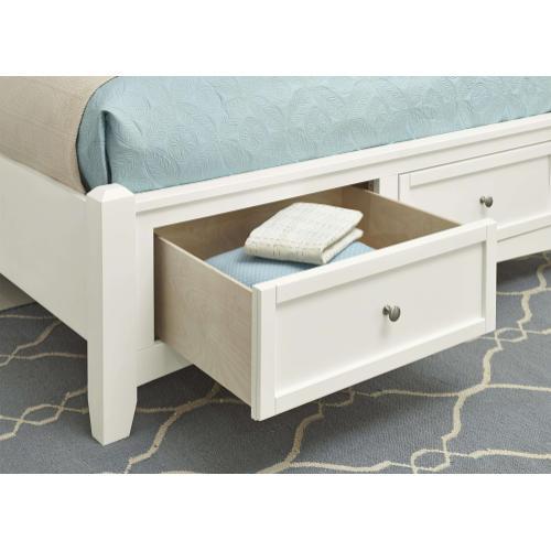 Queen White Mansion Storage Bed
