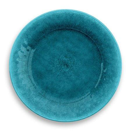 Potters Reactive Dinner Plate Teal Heavy Mold