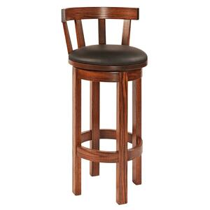 Barrel back bar stool with cushion seat