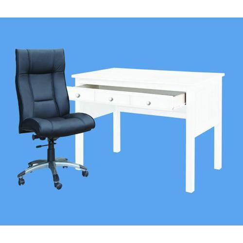 Donco Study Desk Available in White Espresso or Cappuccino