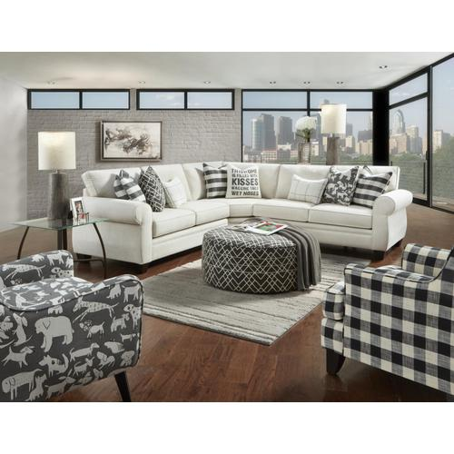 Fusion Furniture - Stain resistant sectional