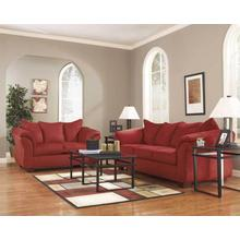 7 Piece Living Room Group Set - Sofa, Loveseat, Coffee Table, End Tables, Lamps