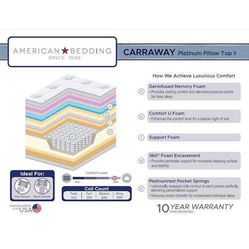 Corsicana - American Bedding - Carraway - Platinum Pillow Top II