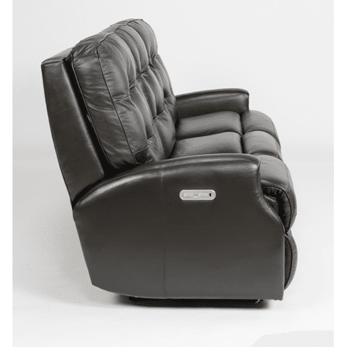 Flexsteel - Devon Leather Reclining Sofa with Nailhead Trim