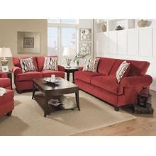 47 Jackpot Red Sofa and Accent Chair