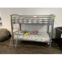Donco Jumbo Silver Bunkbed with Mattresses