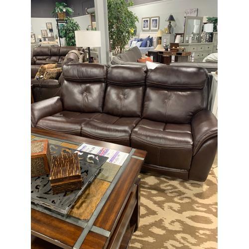 All genuine leather power headrest sofa