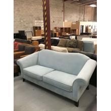 Aqua Microfiber Sofa