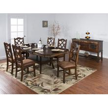 Santa Fe Dual Height Extension Table and 4 Chairs