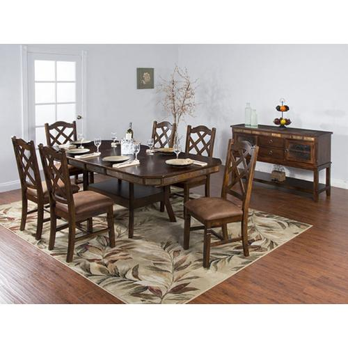 Santa Fe Dual Height Extension Table and 6 Chairs