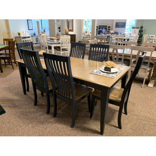 Treo Table with 6 Royal Blue Chairs
