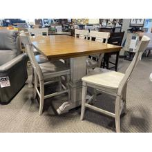 """See Details - 72"""" Counter Height Table & 4 Chairs - 18"""" Leaf Included"""
