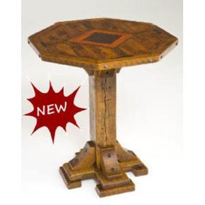 Mustang Canyon Single Post Pedestal Table Octagon