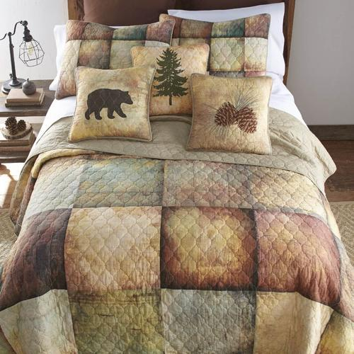 Wood Patch Full/Queen Quilt Set