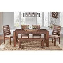 Anacortes 6 Piece Dining Set, Leg Table, Shasta Side Chairs, and Bench
