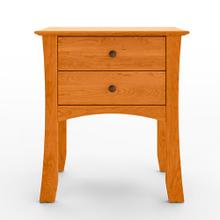 Armstrong Solid Natural Cherry 2 Drawer Nightstand