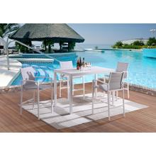 LIFESTYLE COD828-5B Caprera Outdoor Patio Bar Table And 4 Chairs