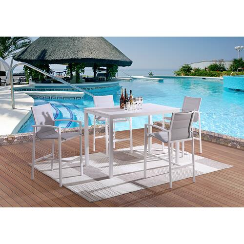 Lifestyle - LIFESTYLE COD828-5B Caprera Outdoor Patio Bar Table And 4 Chairs