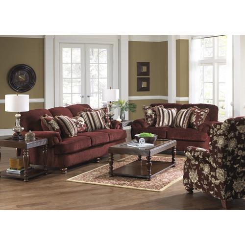 434703-2663/34  Sofa, Loveseat & Chair, Belmont Claret