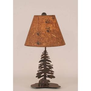 Mini Walking Bear w/ Single Pine Tree Lamp