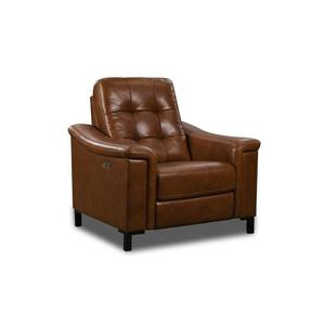 Corinthian Furniture - Young Chestnut Leather Power Recliner