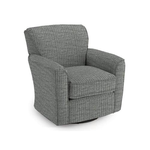 KAYLEE Swivel Chair in Ebony Fabric