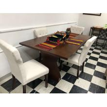 7151 Table and 4 Upholstered Chairs