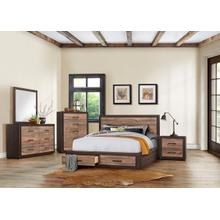 Miter Qn Storage Bed, Dresser, Mirror and Nightstand